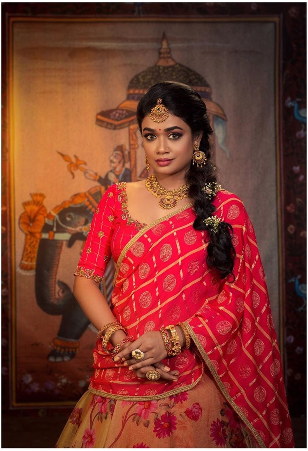 Actress Swayam Siddha Saree Photoshoot Images