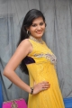 Actress Swetha Jadhav Pictures in Yellow Long Gown