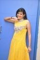 Actress Swetha Jadhav in Yellow Long Gown Pictures