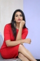Telugu Actress Swetha Varma Red Mini Frock Photoshoot Pics