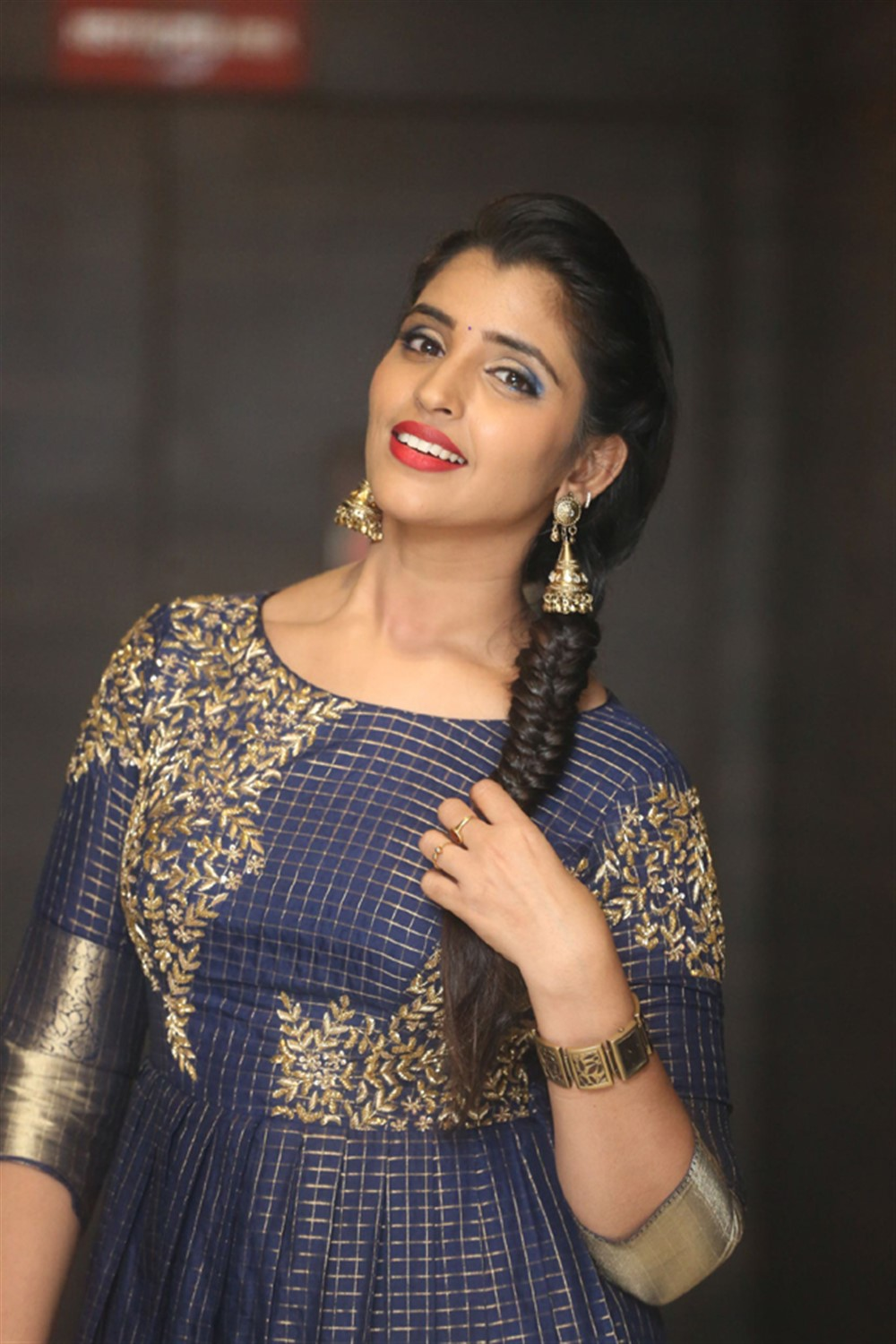 Anchor Syamala Pictures @ Marshal Pre-Release Event