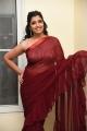 Anchor Shyamala Red Saree Stills
