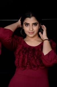 Telugu Anchor Shyamala Cute Photos in Red Dress