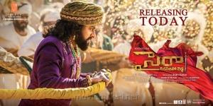 Chiranjeevi's Sye Raa Narasimha Reddy Movie Release Today Posters