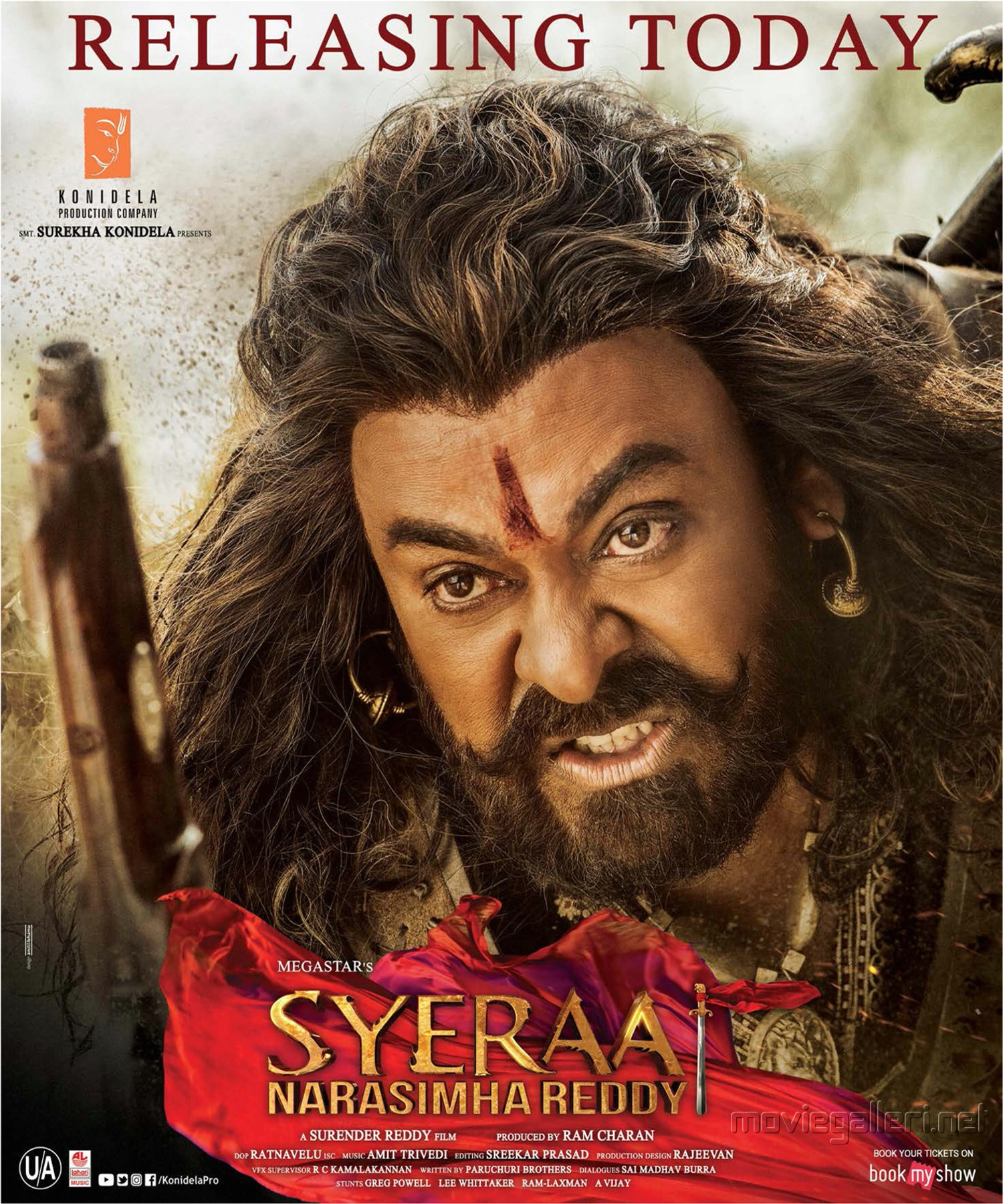 Chiranjeevi's Sye Raa Narasimha Reddy Movie Release Today Posters HD
