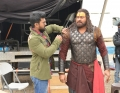Ram Charan, Chiranjeevi @ Sye Raa Narasimha Reddy Movie Working Stills