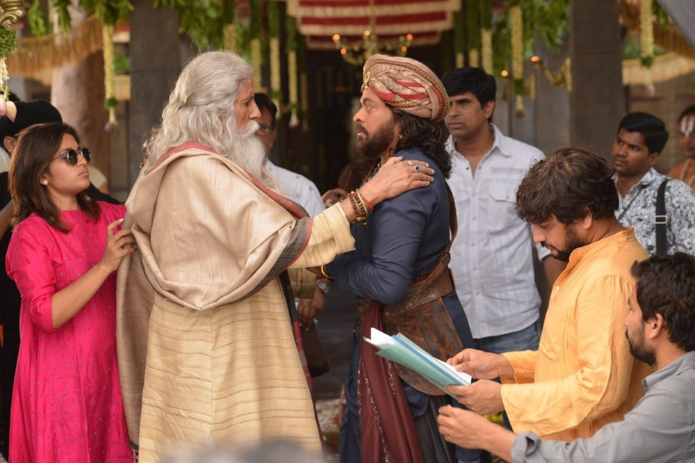 Amitabh Bachchan, Chiranjeevi @ Sye Raa Narasimha Reddy Movie Working Stills