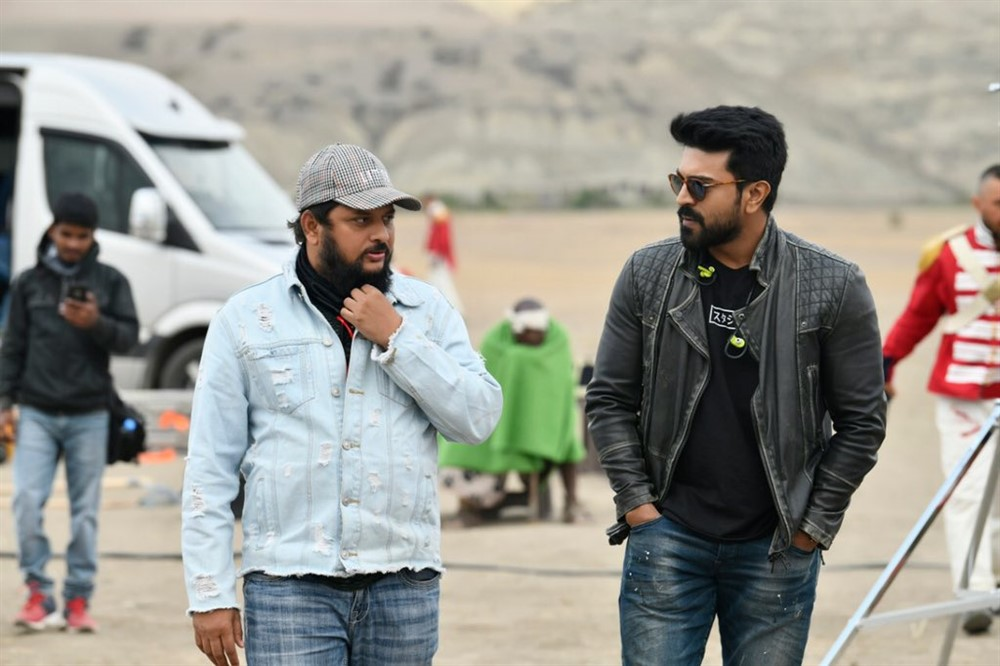 Surender Reddy, Ram Charan @ Sye Raa Narasimha Reddy Movie Working Stills