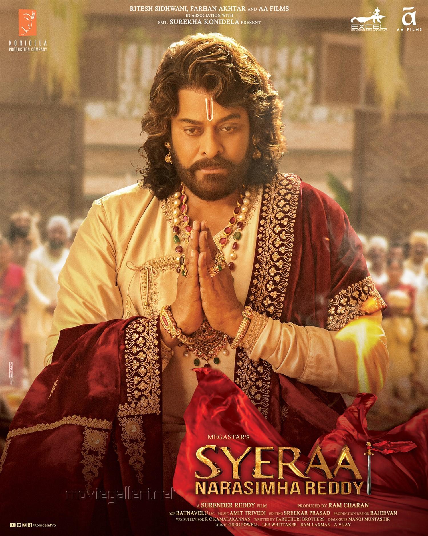 Chiranjeevi Syeraa Narasimha Reddy Latest Posters HD