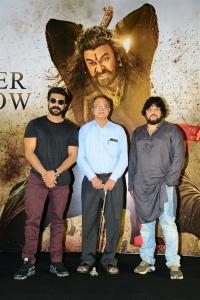 Ram Charan, Akkineni Ramesh Prasad, Surender Reddy @ Syeraa Narasimha Reddy Movie Trailer Launch Stills