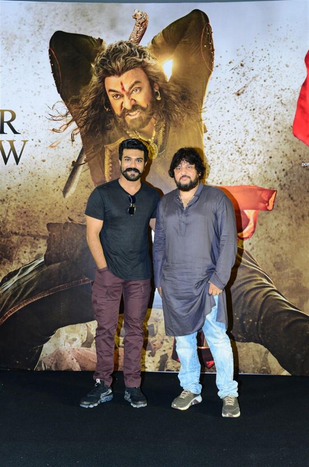 Ram Charan, Surender Reddy @ Syeraa Narasimha Reddy Movie Trailer Launch Stills