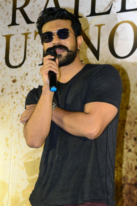 Producer Ram Charan @ Syeraa Narasimha Reddy Movie Trailer Launch Stills