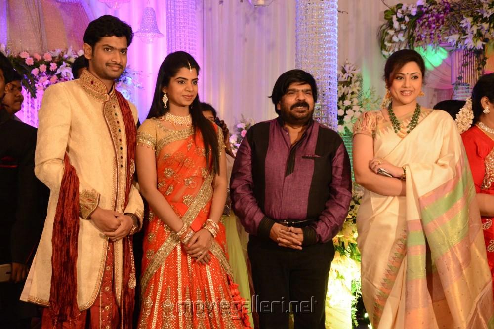 Actress Meena T Rajendar Daughter Ilakiya Wedding Reception Photos