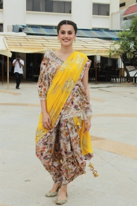 Actress Taapsee Pannu New Images @ Mission Mangal Press Meet