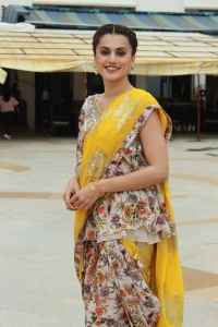 Actress Taapsee Images @ Mission Mangal Press Meet