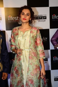 Actress Taapsee Pannu Pics @ Melange by Lifestyle Festive Collection 2018 Launch, Hyderabad
