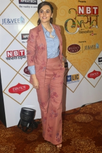 Actress Taapsee Pannu Pics @ NBT Utsav Awards 2019 Red Carpet