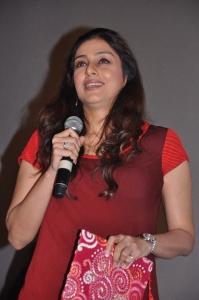 Actress Tabu Photos in Red Dress
