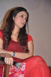Actress Tabu New Photos in Red Dress