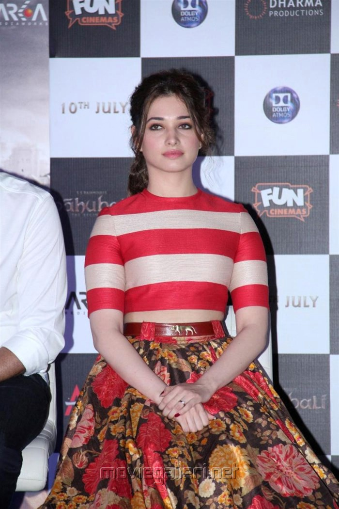 Actress Tamannaah Photos at Bahubali Hindi Launch