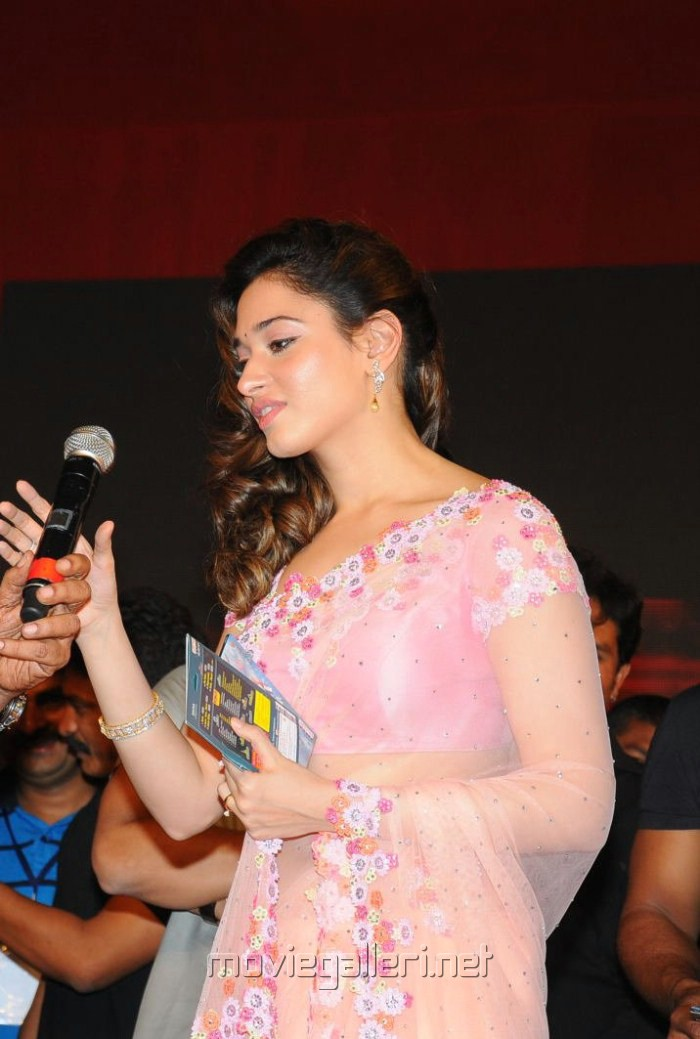 Tamanna in Saree at Racha Audio Release Function