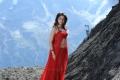 Actress Tamanna Hot Red Dress Wallpapers