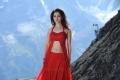 Oosaravelli Tamanna Bhatia Hot Red Dress Wallpapers