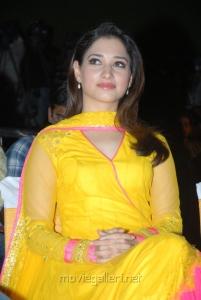 Actress Tamanna New Cute Images in Yellow Salwar Kameez