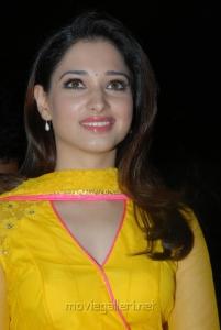 Milky Beauty Tamanna Cute Photos in Yellow Salwar Kameez