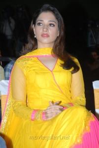 Milky White Beauty Tamanna New Cute Photos in Yellow Salwar Kameez
