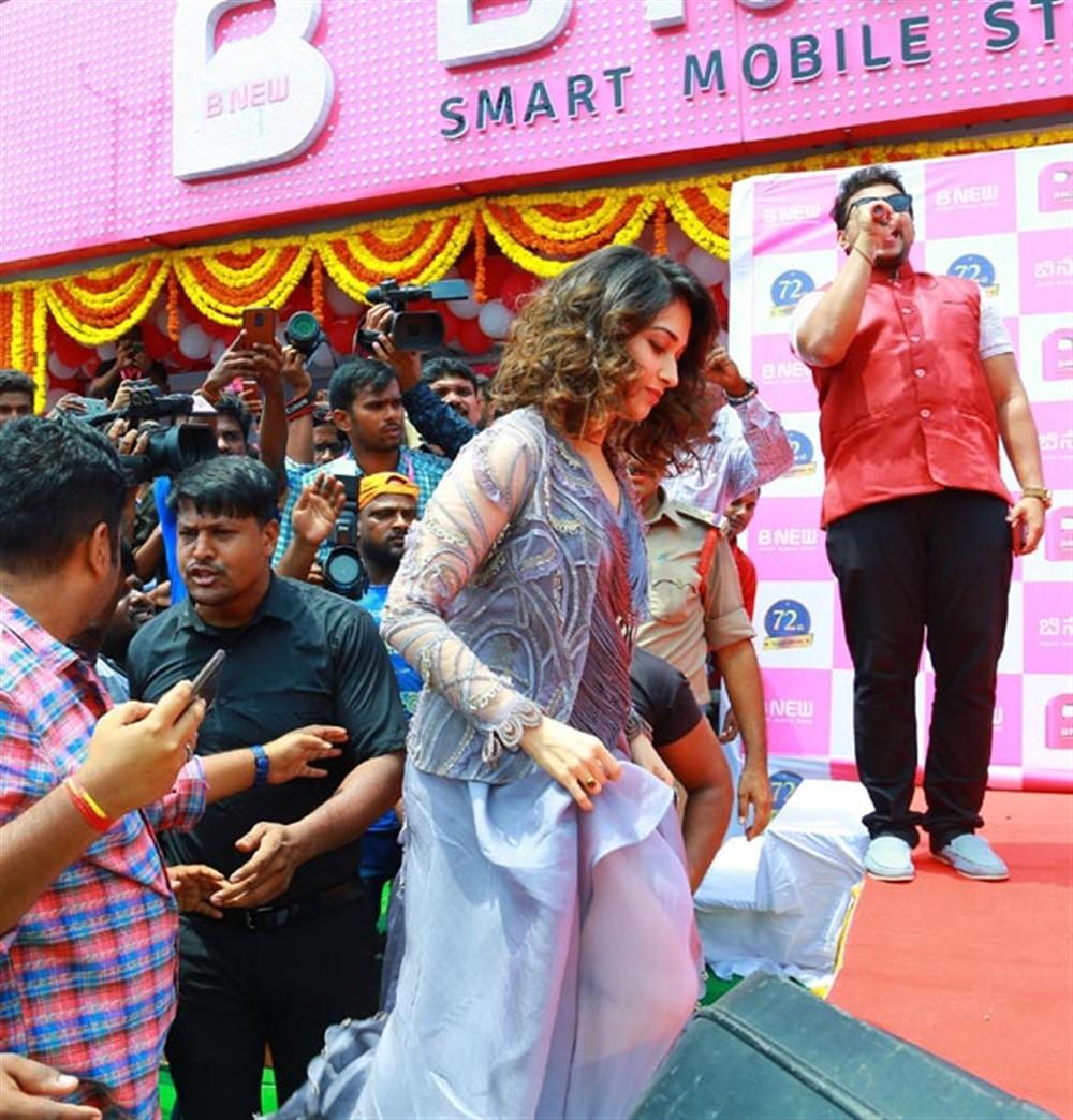 Actress Tamanna launches B New Mobiles Store @ Karimnagar Photos