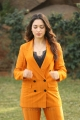 Next Enti Movie Actress Tamannaah Bhatia Pics in Dark Orange Suit