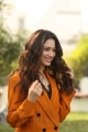 Actress Tamanna Pics in Dark Orange Suit Dress