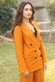 Actress Tamannaah Pics in Dark Orange Suit Dress