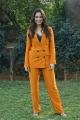 Telugu Actress Tamanna New Pics in Dark Orange Suit