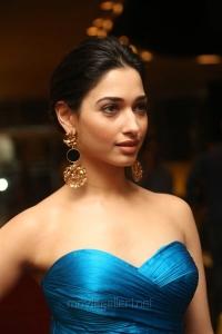 Actress Tamannaah Bhatia Stills in Blue Long Dress