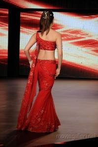 Tamanna Ramp Walk Stills in Red Dress