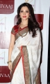 Actress Tamanna White Silk Saree Photos for Joh Rivaaj