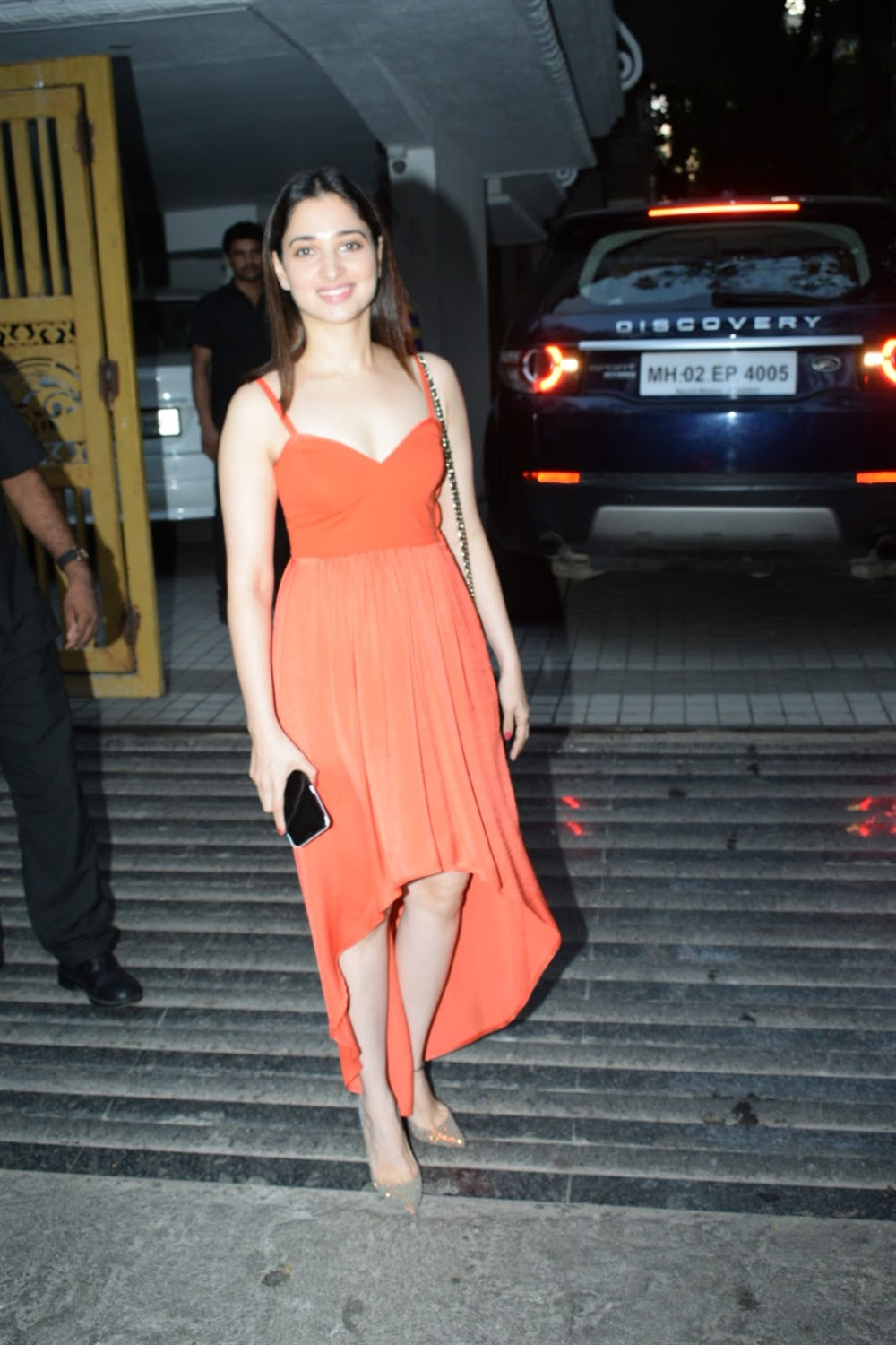 Actress Tamanna Bhatia in Orange Dress Photos
