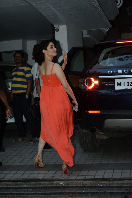 Actress Tamannaah in Orange Dress Photos