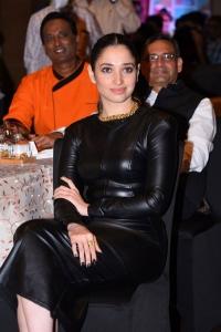 Actress Tamannaah Black Dress Photos @ MasterChef Telugu Press Meet