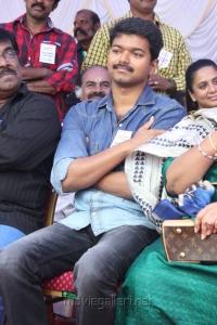 Actor Vijay at Kollywood Stars Fasting against Service Tax Photos
