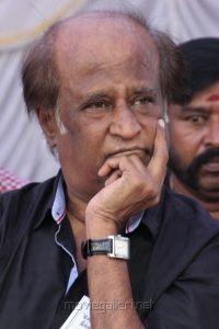 Rajinikanth at Tamil Film Industry Protest Against Service Tax Photos
