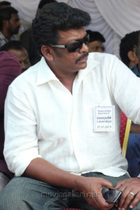 R.Parthiban at Tamil Film Industry Protest Against Service Tax Photos