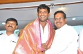 Vishal, Kalaipuli S Thanu @ Tamil Film Producers Council Swearing Ceremony Photos