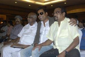 SP Muthuraman, John Vijay at Tamil Pesum Kadhanayagi Press Meet Photos