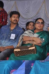 Vijay at Tamil Stars Fasting Against Service Tax Stills