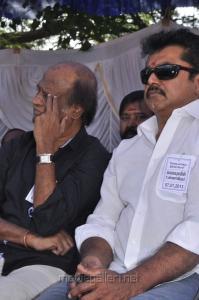 Rajinikanth, Sarathkumar at Tamil Stars Fasting Against Service Tax photos