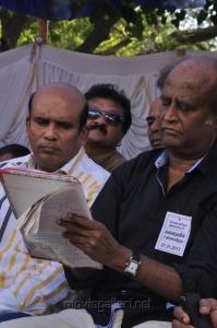 Vagai Chandrasekar, Rajinikanth at Tamil Stars Fasting Against Service Tax Stills