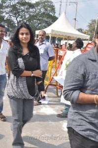 Kaveri Kalyani at Tamil Stars Fasting Against Service Tax Stills